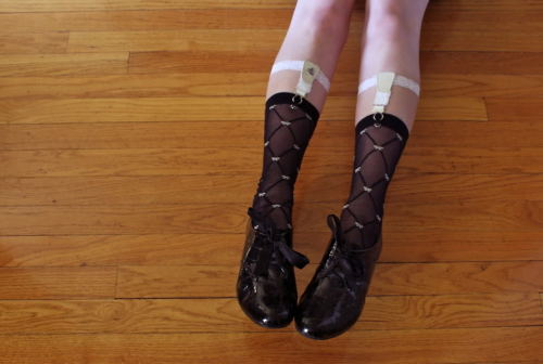 Swan Diamond Rose Sock Garters