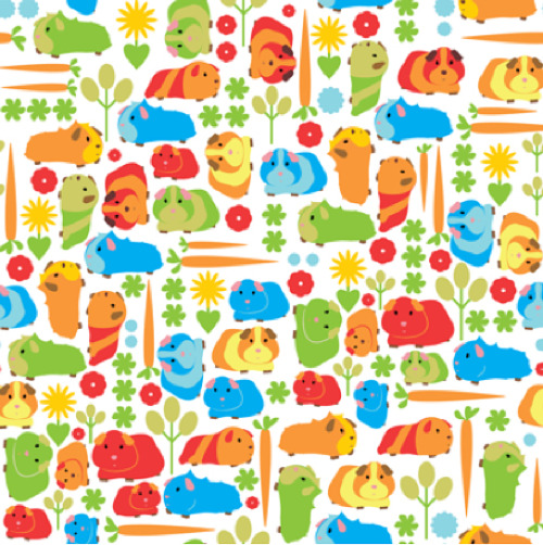 guineapiggies:  Guinea Pig Vegetable Patch fabric via Spoonflower.com  Oh shit I want to make EVERYTHING from this