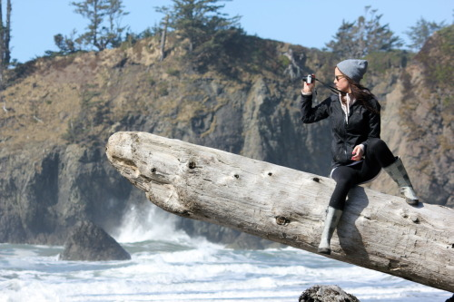 Kate at Second Beach | Olympic Peninsula, Washington | 3.21.12