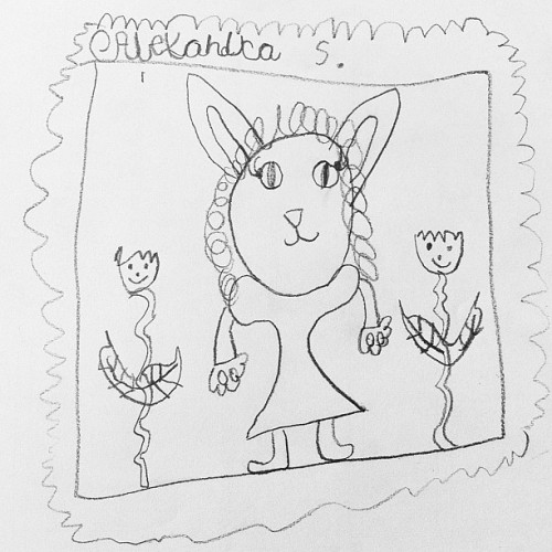 This is me as a bunny by my 6yo student!