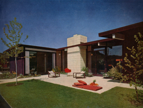 midcenturia:  Eichler house, House and Home, 1955. Image via