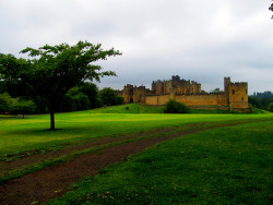 chrisbastian:  Alnwick Castle, England. Photo by Chris Bastian.