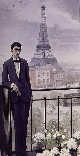 Portrait of Jean Cocteau, 1912 American painter Romaine Brooks (1874-1970)