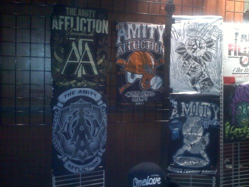 The Amity Affliction Merch from the Still Reckless Tour with Asking Alexandria, Trivium, I See Stars & Motionless In White! Follow us for music news, tours and set lists!