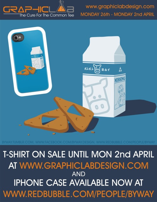 There are just over 24 hours left to buy my Milk & Triforce Cookies T-shirt design over at GraphicLabDesign.com so make sure you buy a copy before it's gone! and you can now buy Milk & Triforce Cookie iPhone cases over at my RedBubble store, redbubble.com/people/byway!