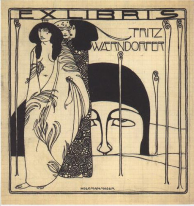 Koloman Moser, Drafts for the exlibris for Fritz Waerndorfer