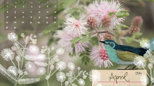 Geninne's Art Blog: April Calendar