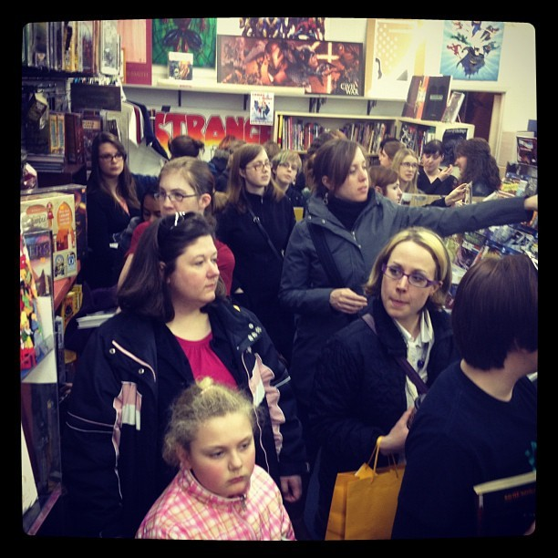 A store full of ladies buying comics! I helped host a Ladies' Night at Strange Adventures in Fredericton and it was a MASSIVE success. I love my job so, so much. (Taken with instagram)