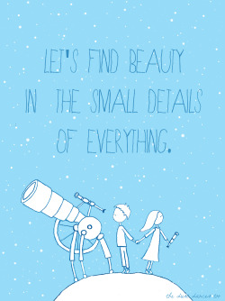 couragehopestrength:  let's find beauty in the small details of everything.