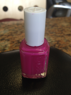 Freshly painted in this pink shade of Essie