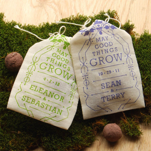 Daily Inspiration - DIY Wedding Favor Seed Pouches Check us out at www.thelookweddingphotography.com