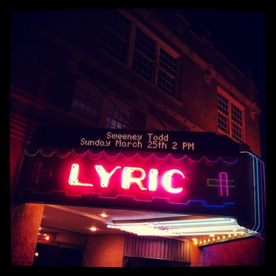 Sweeney at the Lyric (Taken with Instagram at Lyric Theater)