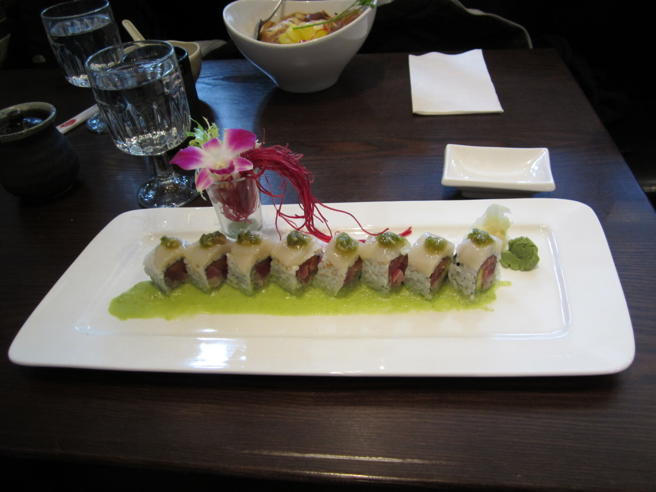 The 'awesome' sushi dish at Osaka.