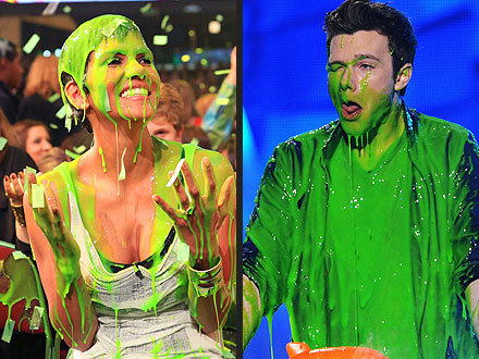 """No one is safe from the slime."" - Kids' Choice Awards 2012 host Will Smith, giving fair warning before stars took the stage"