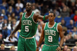fyeahbostonceltics:  That KG &Rondo love