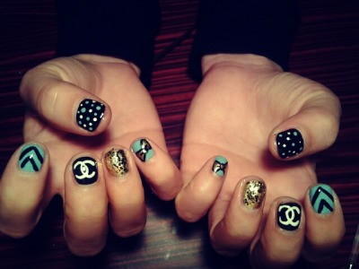 I did my friend Michelle's nails….. lil bit of randomness