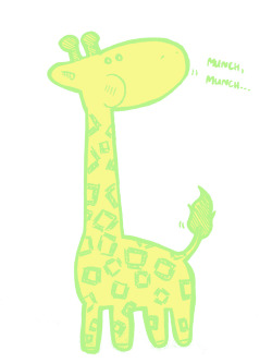 It's a giraffe. In pastel color. Because i like giraffe, and i once ate some pastel crayons. By: The Deadline Boy