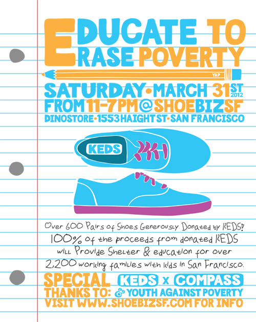 [EVENT] Today My store (ShoeBiz Dino) Hosted the very first Fundraiser for the Homeless Families of Compass Family Services. It was a Keds event for everyone to get their shoes at wholesale prices. We did great! I custom painted 15 Pairs of shoes.  Some will be posted!