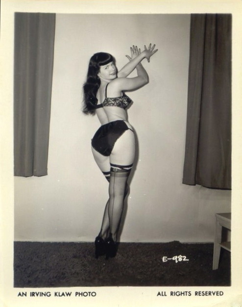 Bettie Page Photo by Irving Klaw