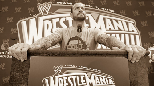 "CM Punk - ""Fightin' Fanboys"" Wrestlemania edition CM Punk chats with Marvel to preview both his Wrestlemania match and give his thoughts on some of the Avengers vs X-Men match-ups. http://marvel.com/news/story/18389/wrestlemania_countdown_cm_punk"