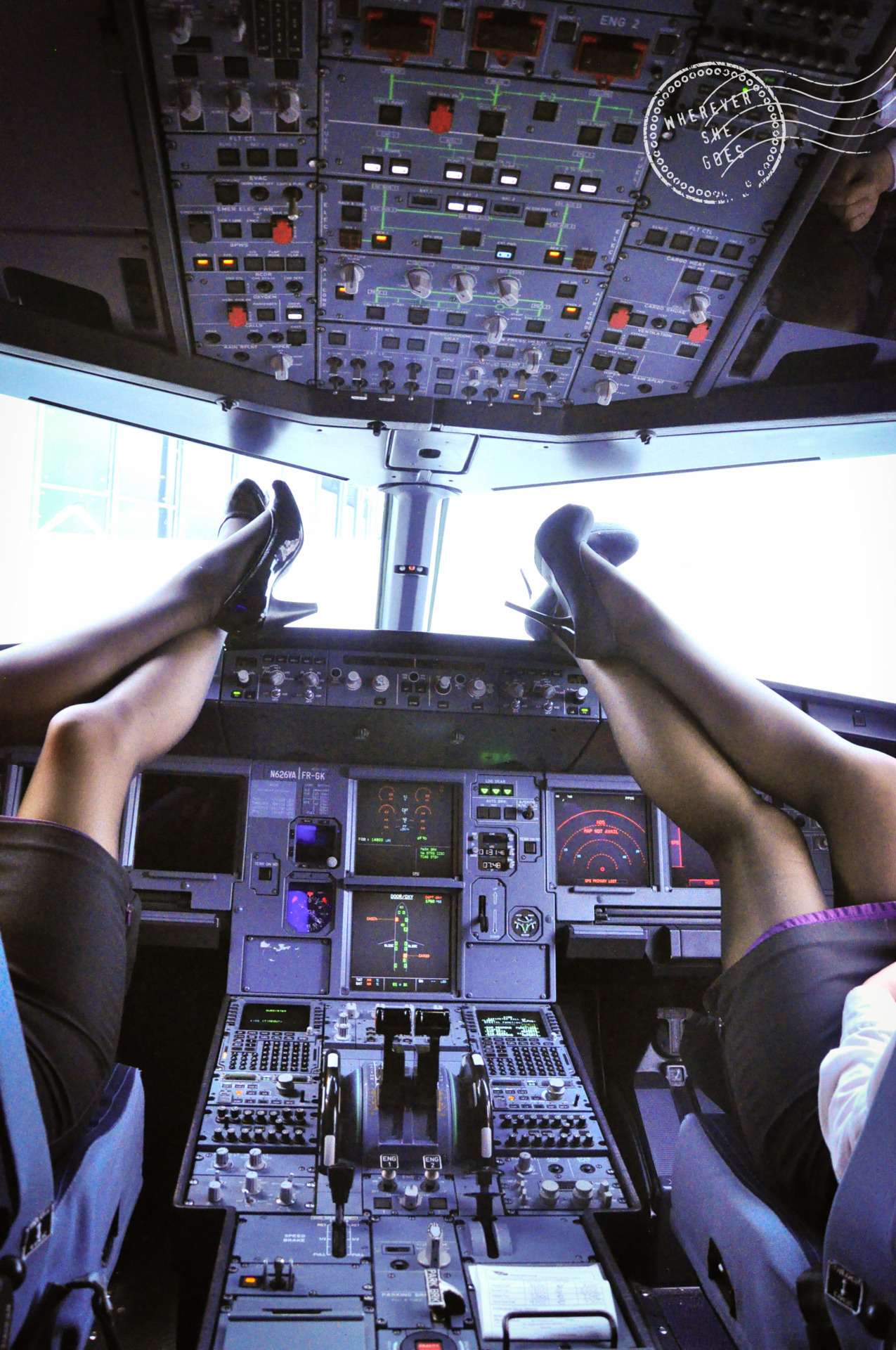 Flight Attendants: a progressive project.  Pictured: Toni & Jaimie March 2012