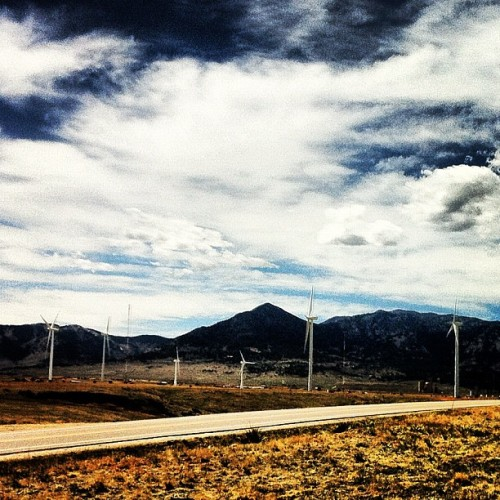 #Sustainable wind #energy @NREL keeping #Boulder #green.  (Taken with instagram)
