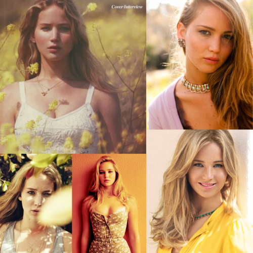 finniickfuckingodair:  Jennifer Lawrence yellow scheme