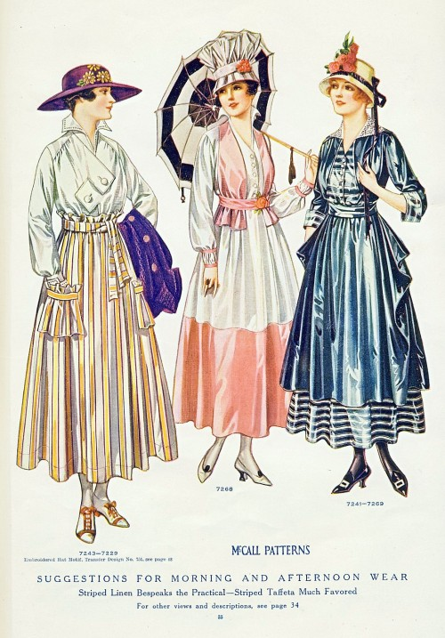 Day dresses, 1916 US, McCall's Magazine