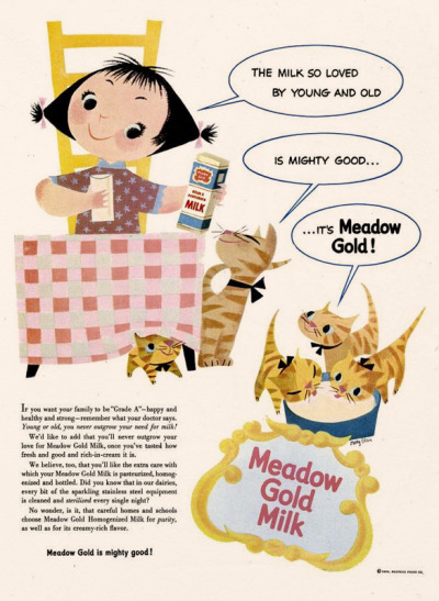 dandyads:  Meadow Gold Milk, 1953