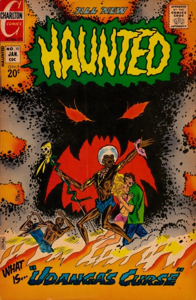 """Ubanga's Curse""  Haunted #10 - Charlton Comics, January, 1973"