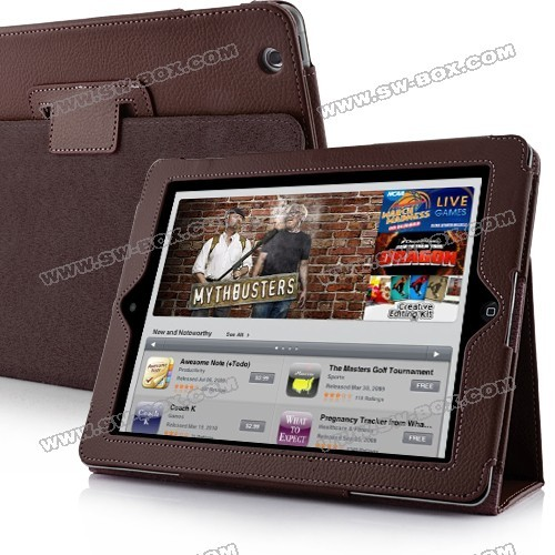 This unique and elegant leather case for the new iPad can protect it from scratches, dust, fingerprints and other daily damages. It is shock-absorbent, which can keep your iPad free from dust and bumps. Simple and elegant in style while prevents scratches and dings without adding a lot of bulk. The built-in stand will let you type with ease. Simply fold the case under the new iPad and type to your hearts content. It's really a good choice for the new iPad. Don't hesitate to buy it!