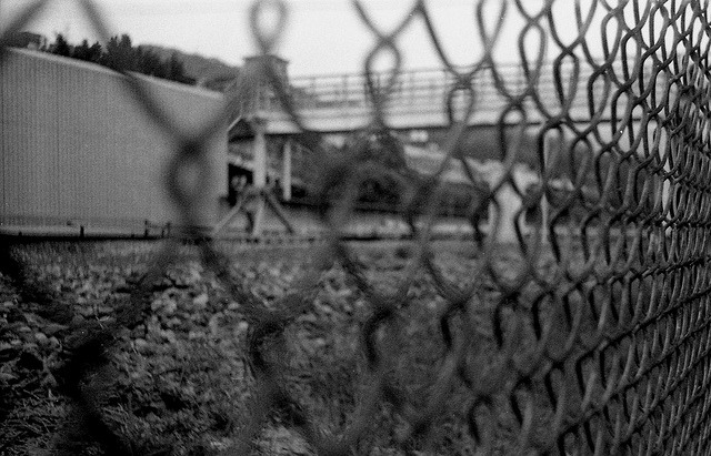 side of the railway on Flickr.Smena 8M, Kodak Tmax 400