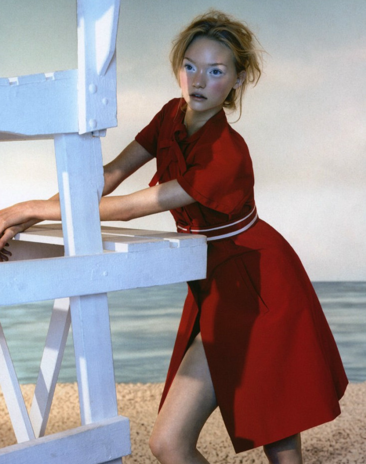 "Gemma Ward in ""Maiden Voyage"" by Javier Vallhonrat for British Vogue"
