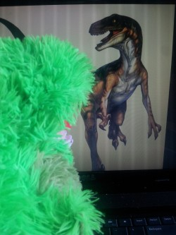 Today has mostly been spent worshipping our Velociraptor overlords and deleting Jurassic Park off our DVR.