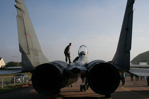 Getting the MiG ready on Flickr.