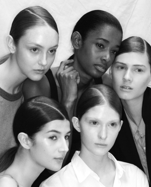 Models @ Issey Miyake backstage Paris Women's Fashion Week Fall 2012