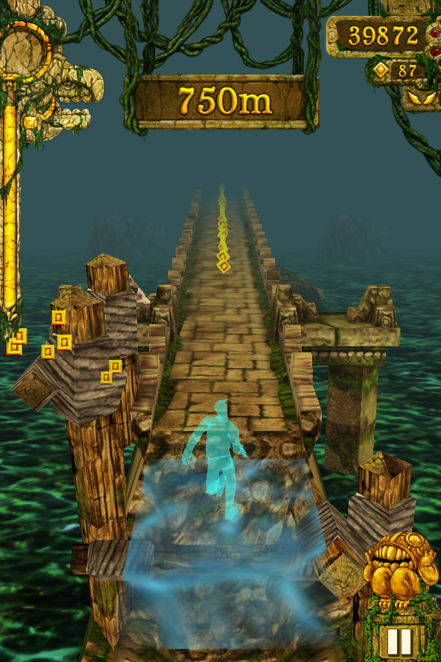 playing temple run