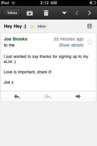 Finally on Joe Brook's Elist . :p haha love him . <3