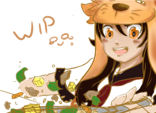 wip of art trade with Ena-chan! 8D hnnnng anatomy—will try finishing tomorrow!