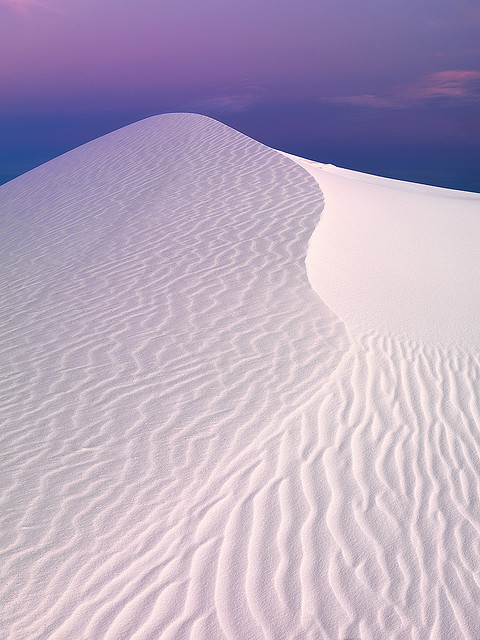 esteldin:  Earthshadow At White Sands by Ben H. on Flickr.  It's just so beautiful.