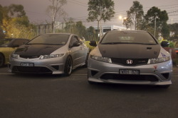 A couple of nice Type R's at JDMST Melbourne.