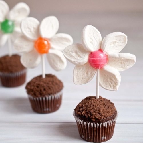 prettylittlepieces:  Spring Flower Pot Mini Muffins