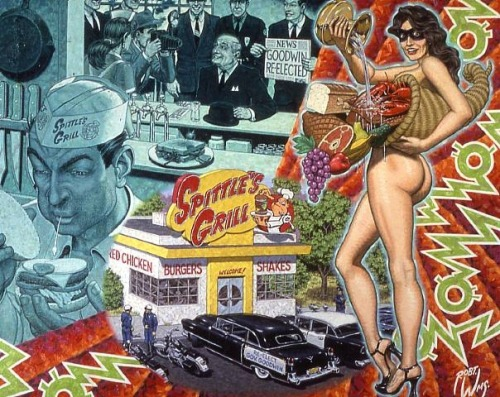Expectorating In A Fast Food Patron's Double Burger Deluxe by Robert Williams.