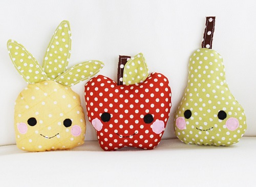 DIY cute fruit baby toy pattern!