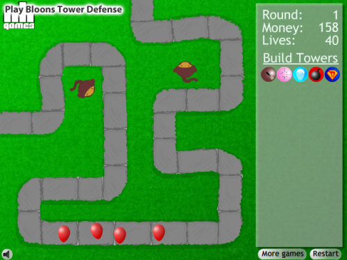 beplayed:  Play Bloons Tower Defense | Free Online Games