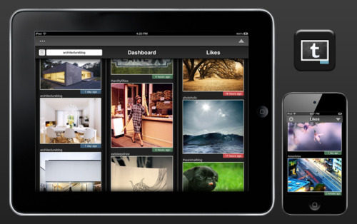 imgTumble Tumblr app for iPad, iPhone and iPod Touch.