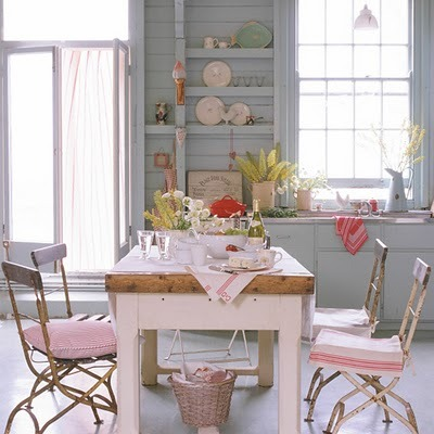 pastels for a shabby chic kitchen