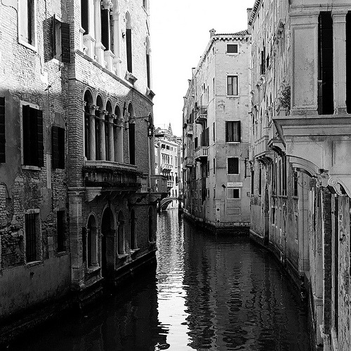black-and-white:  Venice (by Peter Gutierrez)