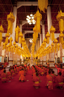 fredtougas:  Young novices in a buddhist temple, Chiang Mai, Thailand.