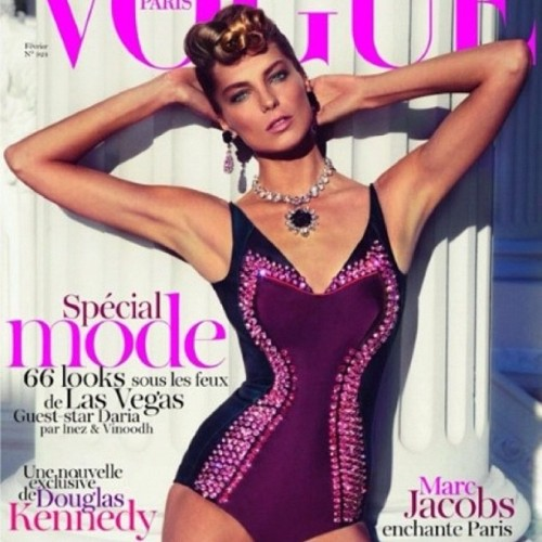 #model #dariawerbowy in #prada on the #cover of #vogueparis. #fashion #fashionphotography #womensfashion #vogue #paris  (Taken with instagram)